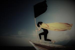 femme motiver bateau